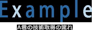 村井工務店 採用情報 タイトル4 A君の技術取得の流れ