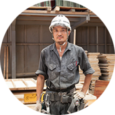 村井工務店 職人紹介 型枠大工 Kさんの写真